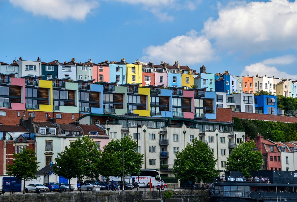 photo of bristol with colourful houses